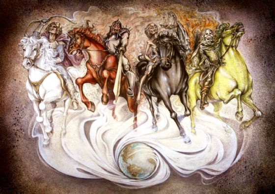 The Four Horsemen of the Apocalypse. Religious/Biblical Art Print/Poster. Sizes: A1/A2/A3/A4 (00506)